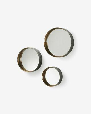 Set Wilton de 3 espejos de acero  Ø 35 cm / Ø 30 cm / Ø 23 cm