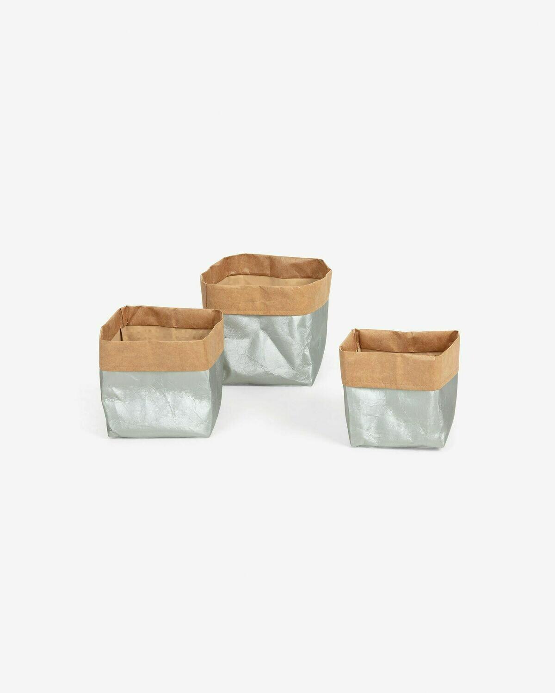 Set Kamori de 3 cestas plata