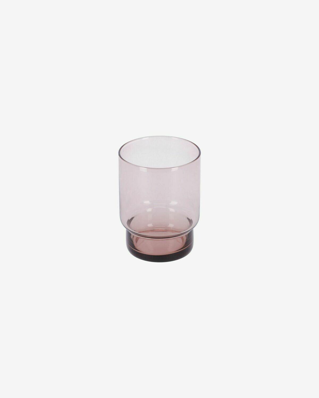 Vaso Yida pequeño de cristal rosa