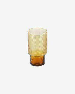 Vaso Nausica grande de cristal naranja