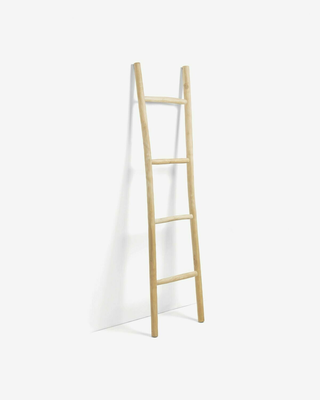 Escalera decorativa Marge madera maciza de teca acabado natural 55 x 190 cm