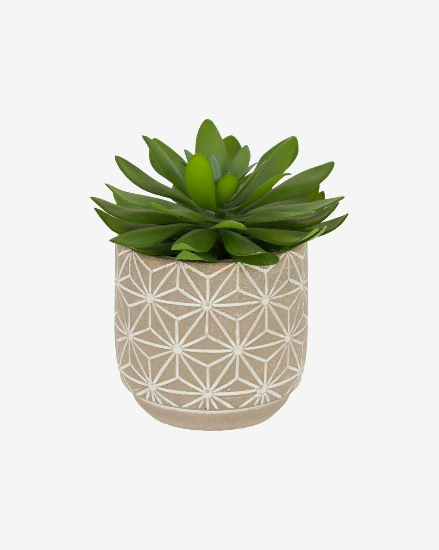 Planta artificial Cactus con maceta de cemento 17 cm