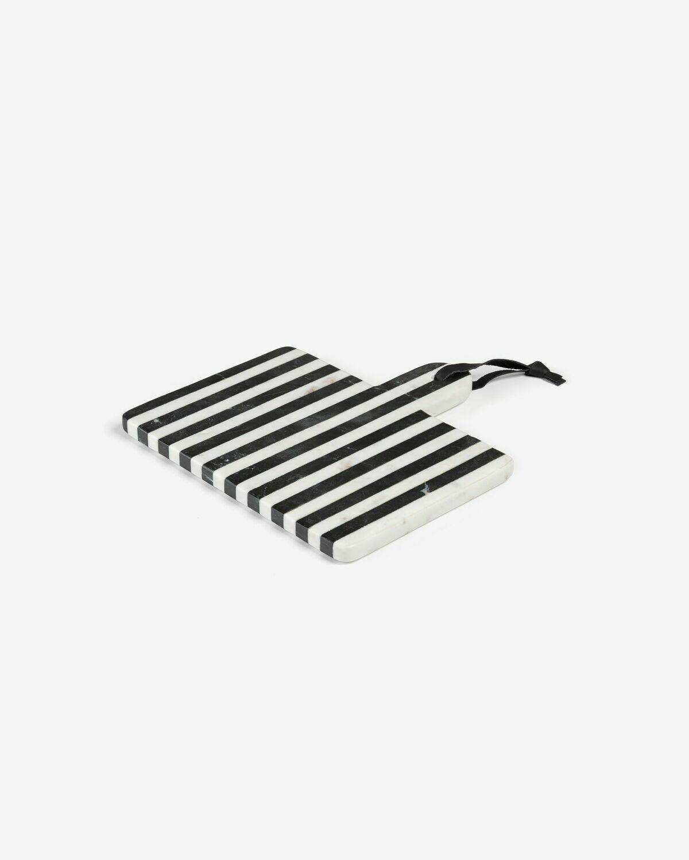 Tabla de servir rectangular Bergman mármol blanco y negro