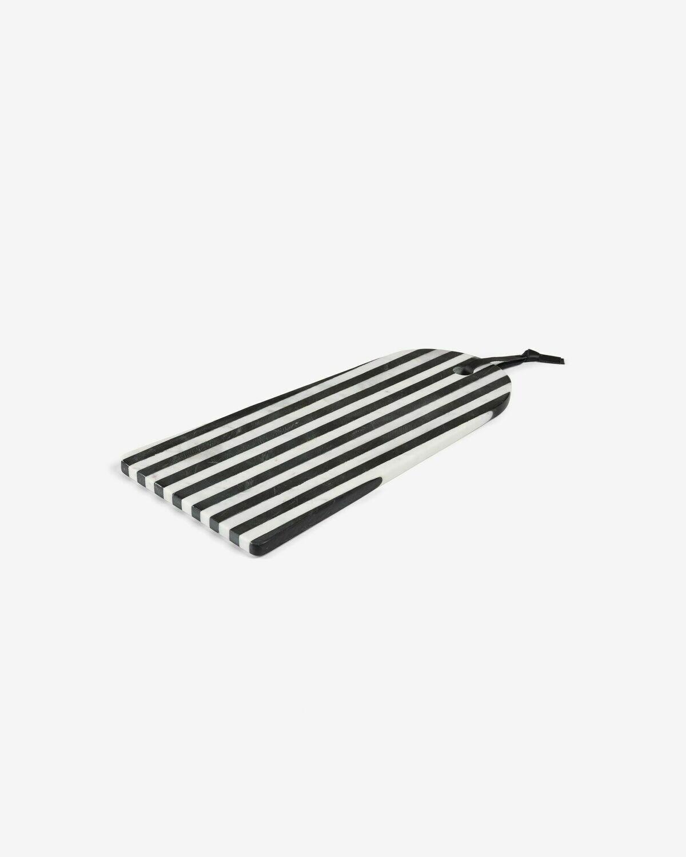 Tabla de servir rectangular arco Bergman mármol blanco y negro