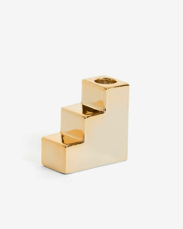Portavelas Anteia dorado