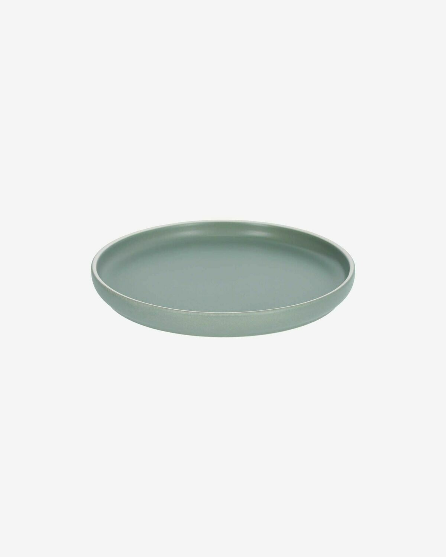 Plato de postre Shun de porcelana verde