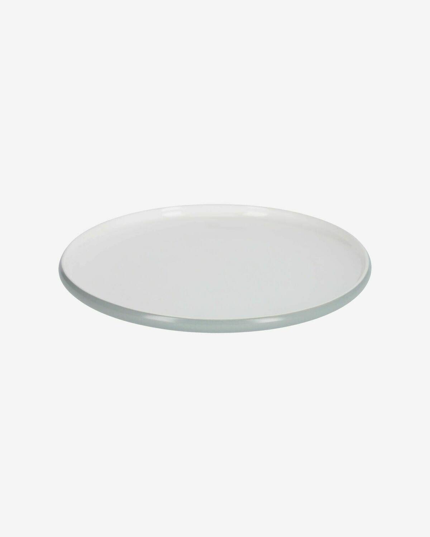 Plato plano Sadashi de porcelana blanco y gris