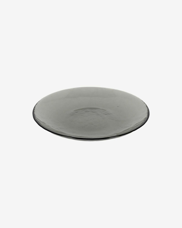 Plato de postre Syna de cristal gris