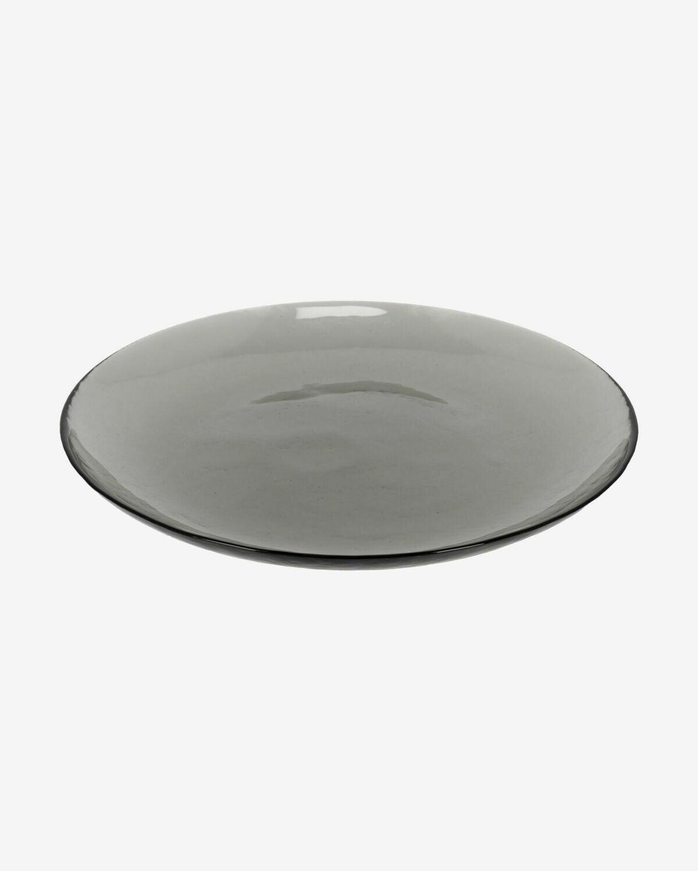 Plato Syna de cristal gris