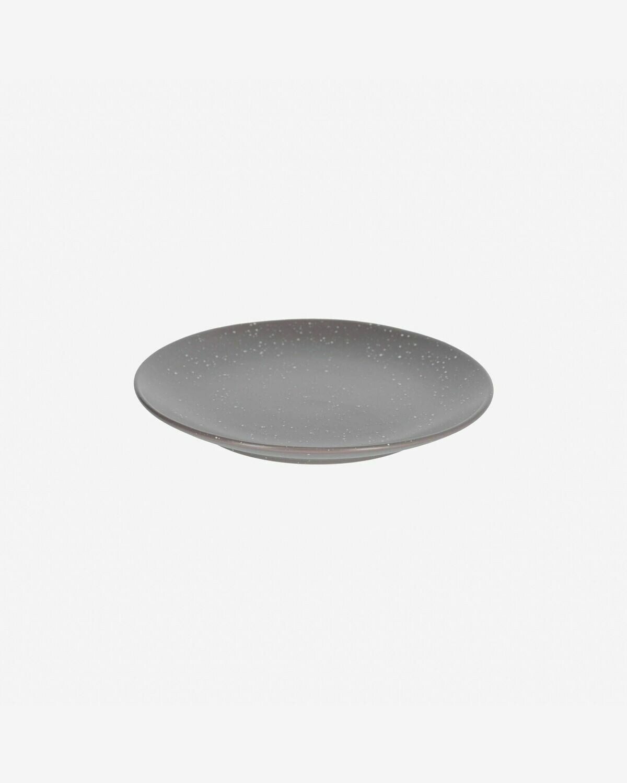 Plato de postre Aratani gris oscuro