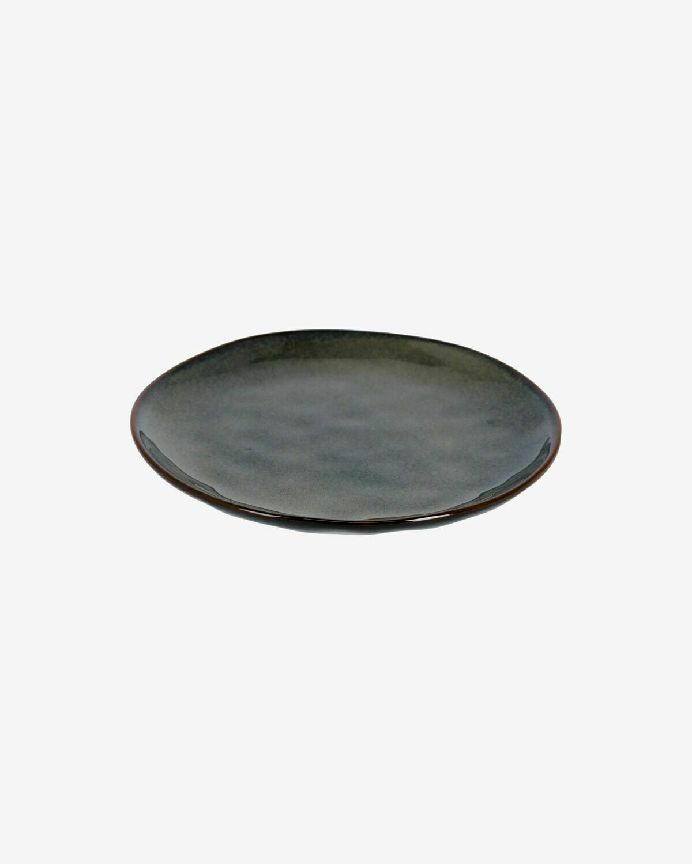 Plato de postre Odile de cerámica azul oscuro