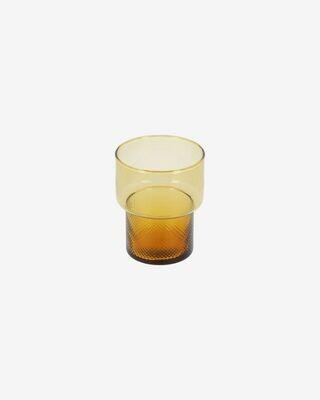 Vaso Nausica pequeño de cristal naranja