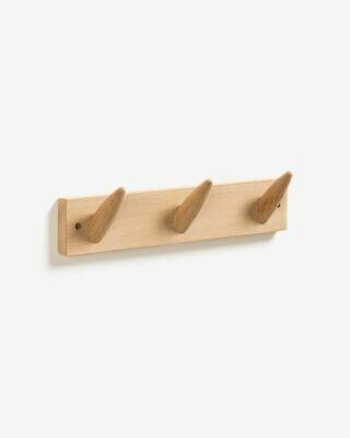 Colgador de pared Natane 3 ganchos madera abedul