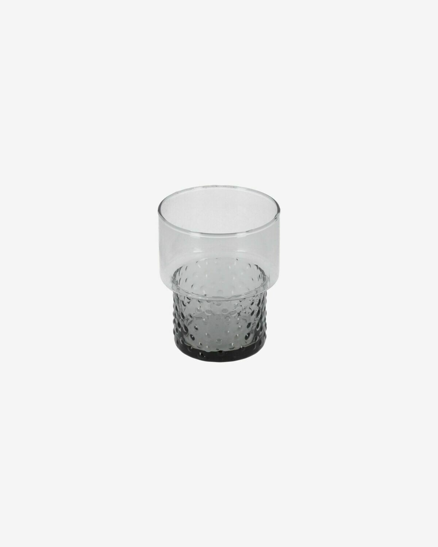 Vaso Syna pequeño de cristal gris