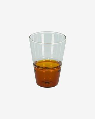 Vaso Fiorina de cristal naranja y transparente