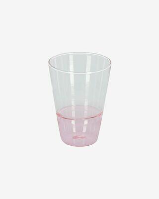 Vaso Fiorina de cristal rosa y transparente