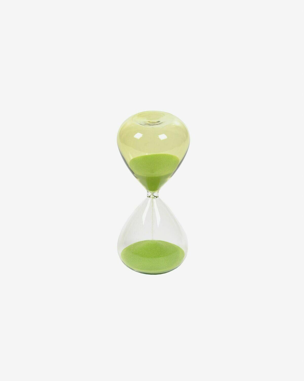 Reloj de arena Breshna cristal verde 14 cm