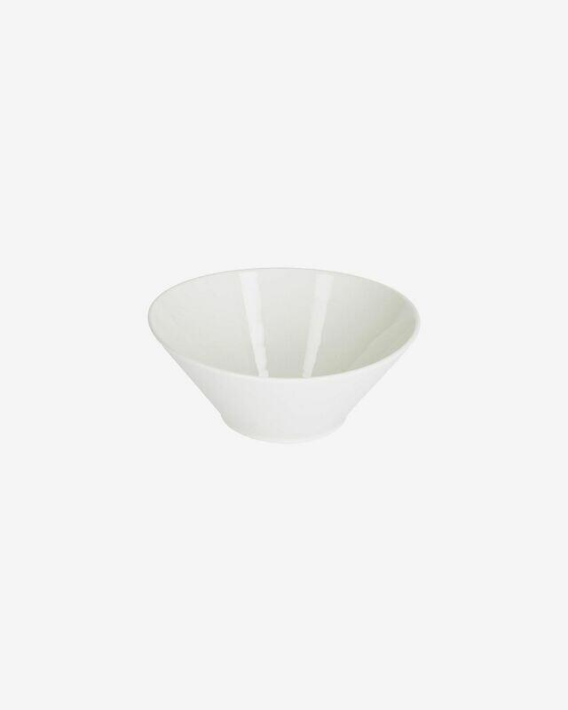 Bol ovalado mediano Pierina porcelana blanco