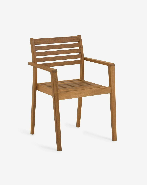 Silla de exterior Hanzel madera maciza acacia FSC 100%