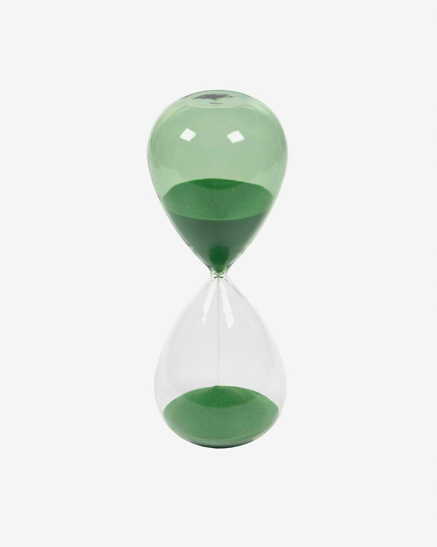 Reloj de arena Breshna cristal verde 25 cm