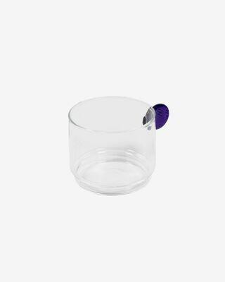Vaso Murielle cristal transparente y azul