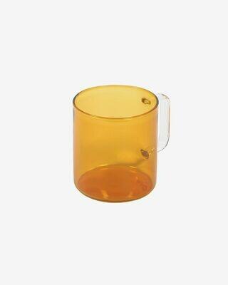 Taza Coralie cristal naranja y transparente