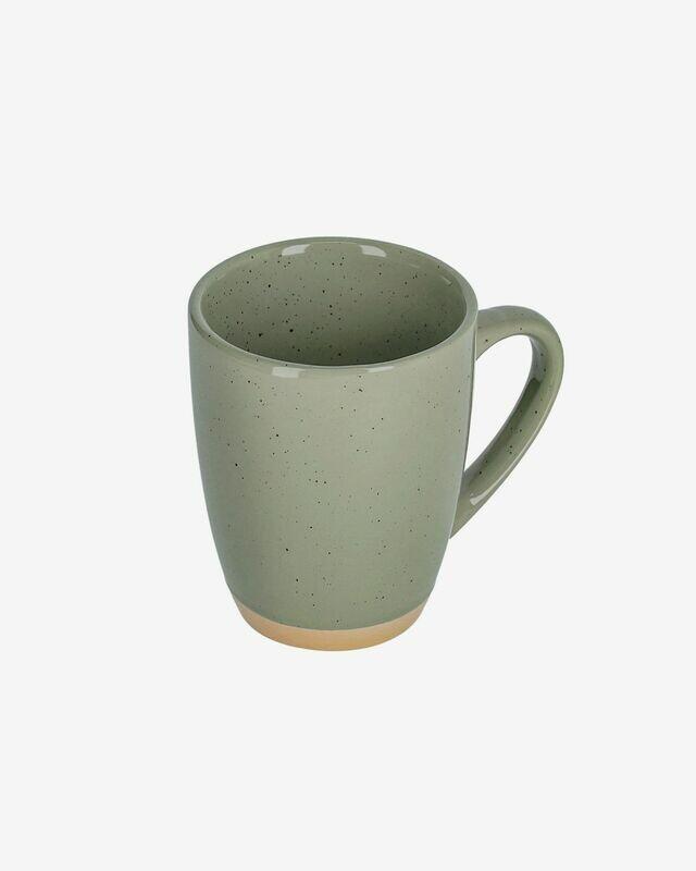 Taza Tilia cerámica color verde oscuro