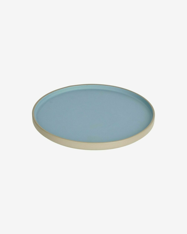 Plato plano Midori cerámica azul