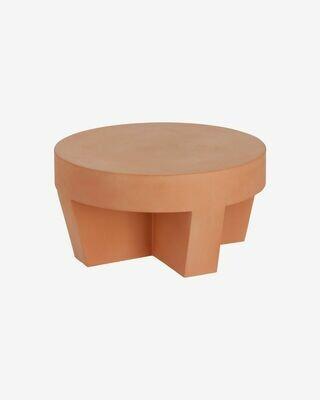 Mesa de centro redonda exterior Vilena de terracota Ø 60 cm