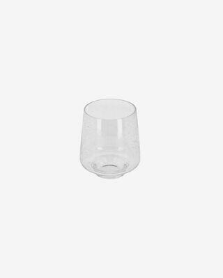 Vaso Natali de cristal transparente