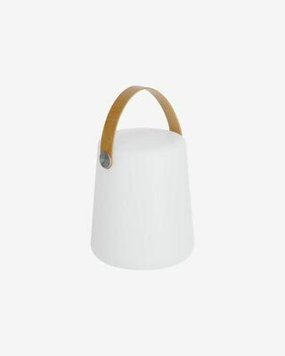 Lámpara de sobremesa exterior Dialma con asa marrón