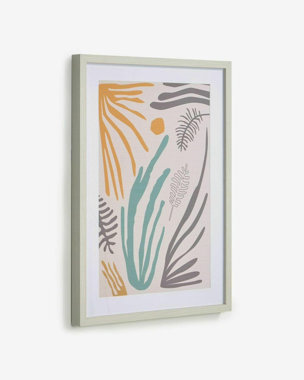 Cuadro Kamara algas marinas multicolor 50 x 70 cm