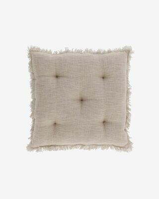 Cojín para silla Brunela 100% algodón beige 45 x 45 cm