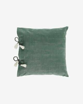 Funda cojín Varina 100% algodón verde 45 x 45 cm