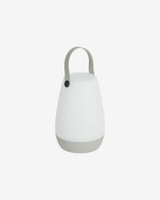 Lámpara de sobremesa exterior Dianela con asa gris
