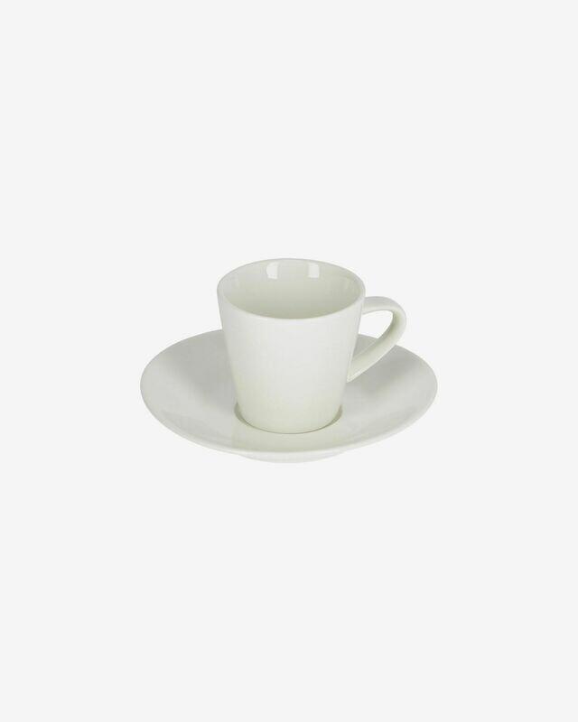 Taza de café pequeño con plato Pierina porcelana blanco