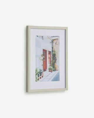 Cuadro Leyla puerta casa rojo 30 x 40 cm