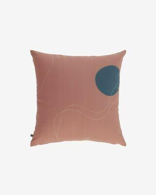 Funda cojín Abish formas geométricas marrón 45 x 45 cm