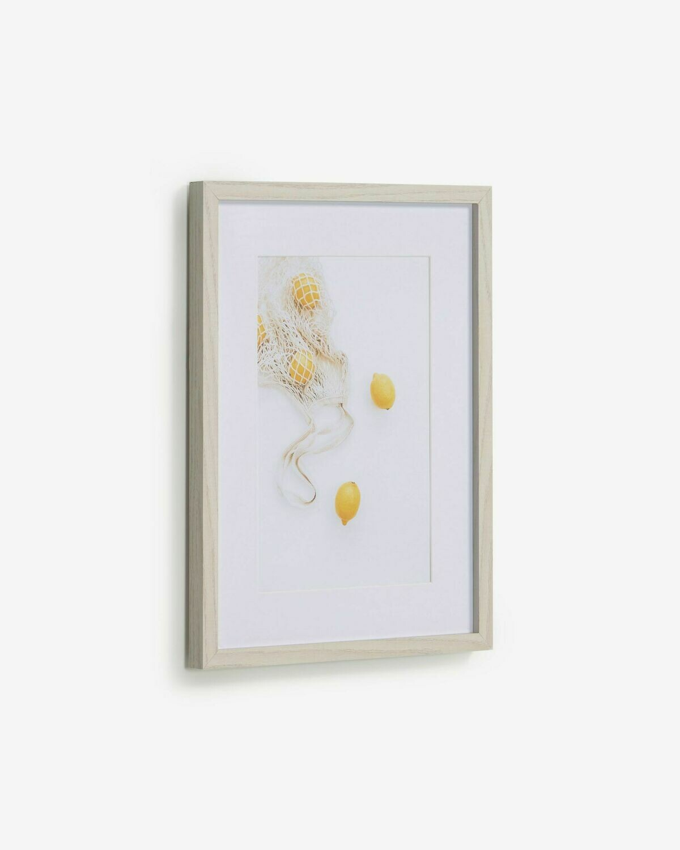 Cuadro Leyla bolsa con limones 30 x 40 cm