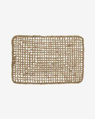 Alfombra Yariela fibras naturales 60 x 40 cm