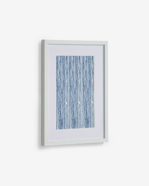 Cuadro Kuma rayas azul 30 x 40 cm