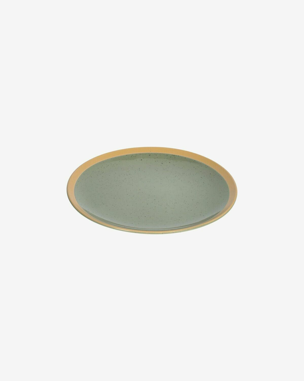 Plato de postre Tilia cerámica color verde oscuro