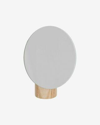Espejo Veida con soporte de madera natural