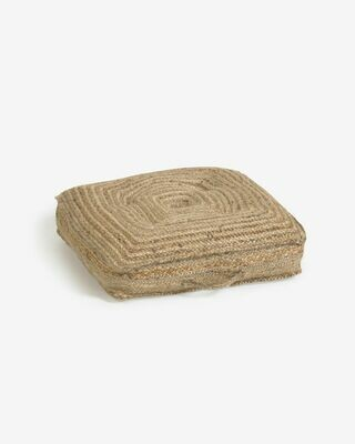Cojín de suelo y palet Abir yute 63 x 63 cm