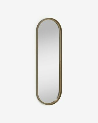 Espejo de pared Tiare metal dorado 31 x 101 cm
