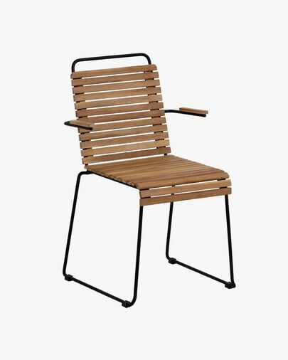 Silla Yukari de madera maciza de acacia y acero galvanizado FSC 100%