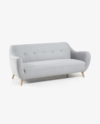 Sofá Orby 3 plazas gris claro 190 cm