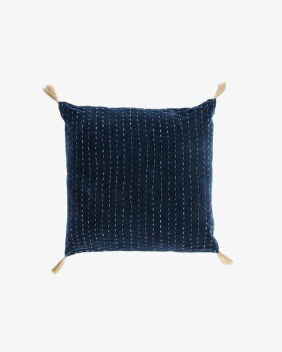 Funda cojín Berenice 45 x 45 cm terciopelo azul