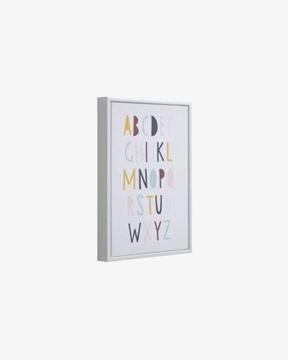 Cuadro Keila abecedario multicolor 30 x 42 cm