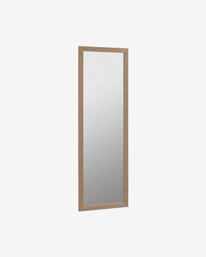 Espejo Wilany 52,5 x 152,5 cm con acabado nogal